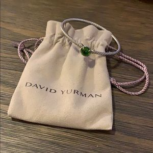 David Yurman green stone bracelet
